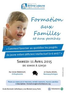 FORMATION PARENTS INSTITUT LEJEUNE