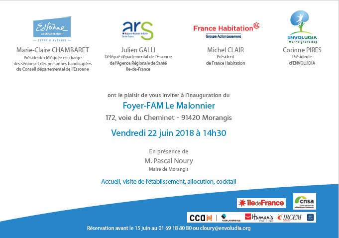 Invitaion inauguration Le Malonnier